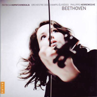 Kopatchinskaja, Patricia - Beethoven: Works for Violin & Orchestra (with Orchestre des Champs-Elysees, Philiooe Herreweghe cond.)
