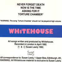 Whitehouse - Never Forget Death