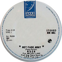 Rush - Not Fade Away (7'' Single)