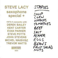 Lacy, Steve - Saxophone Special +